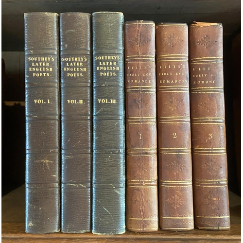 61 - Southey (Robert)Specimens of the Later English Poets, with Preliminary Notices; 3 vols. L. (for Lon...
