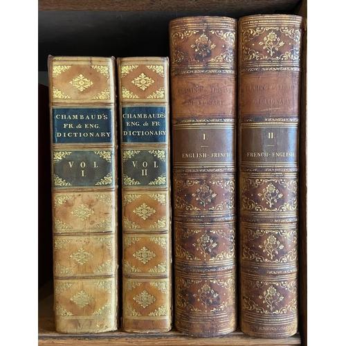 7 - Chambaud (Louis)Nouveau Dictionnaire Francois - Anglois & Anglois - Francois, 2 vols. lg. 4to L...
