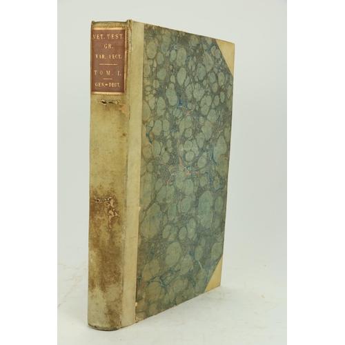446 - Holmes (Robert)Vetus Testamentum Graecum, cum Variis Lectionibus. 5 vols. Oxford (Clarendon Pr...