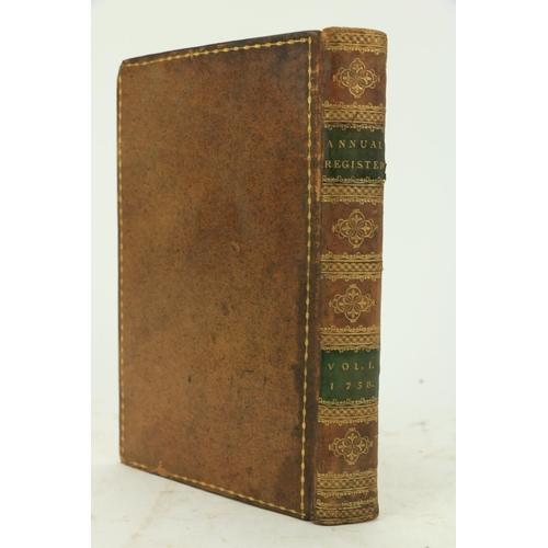 452 - Very fine Bound Run of Important PeriodicalJ. Dodsley, Publisher:Burke (Edmund) Editor, Epstein (M....