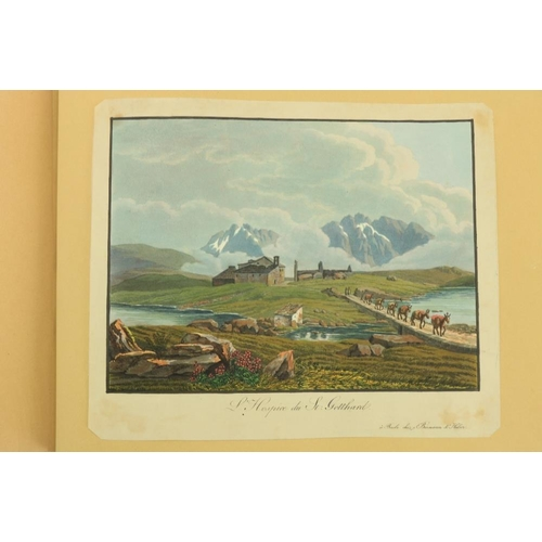 673 - Scrap Albums: Two early 19th Century Albums, of engd. and litho views, of Continental and English i...