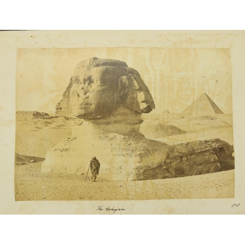 914 - Photographs: A very good Album of original Photographsof various sizes, of travels by a member of ...