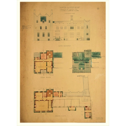 915 - Sir Edward L. Lutyens 1869 - 1944Howth Castle Plans: A Series of 10Prototype Architect Drawings andS...