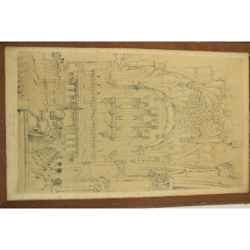 925 - Original Drawing of Oxford CathedralRuskin (John) A large finely executed Pencil Drawing, captioned...