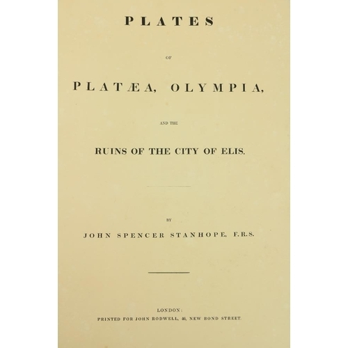 661 - Stanhope (John Spencer)Plates of Plataea, Olympia, and the Ruins of the City of Elis, Lg. Atlas fol...
