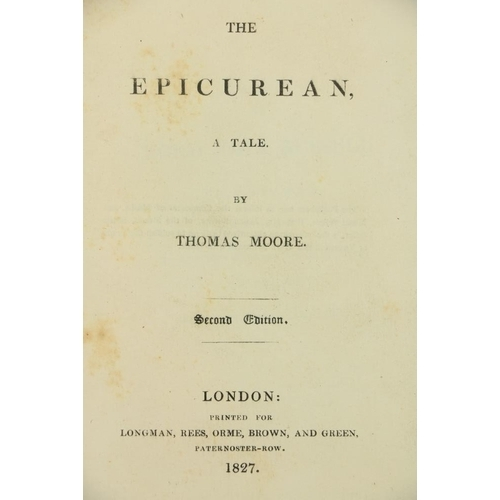 775 - Inscribed Presentation Copy from Thomas Moore, PoetMoore (Thomas)The Epicurean, A Tale, 12mo L. 18...