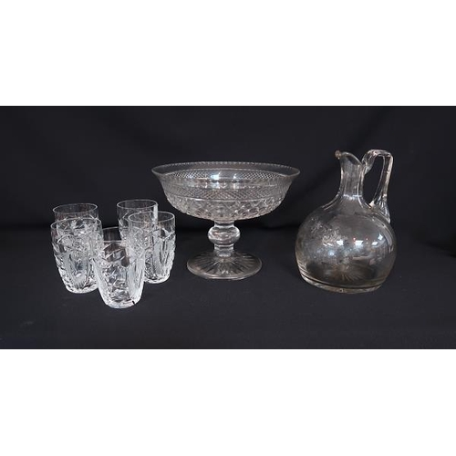 40 - A collection of miscellaneous moulded and other glassware.