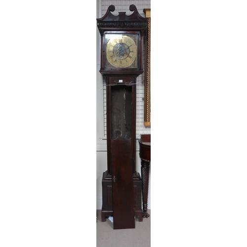 43 - A George III Irish longcase clock by Robert Rose, Dublin, circa 1760 with brass dial, broken pedimen...