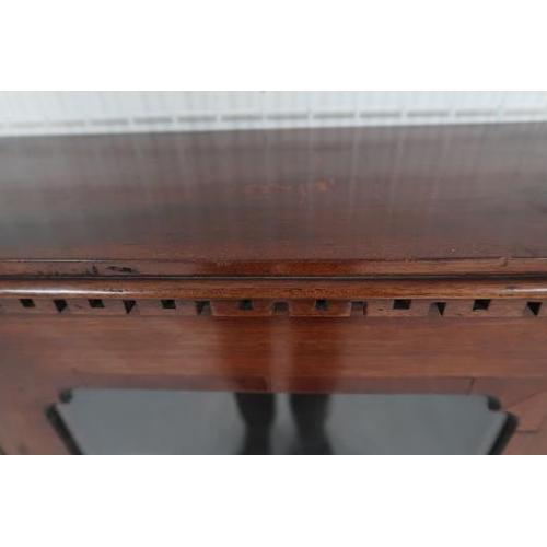 44 - A Victorian mahogany single door display cabinet, rope twist sides raised on bun feet, 50 cms wide, ...