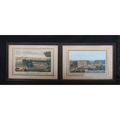 51 - Five hand coloured engravings, Views of Dublin by Robert Sayer and one by Thomas Tudor, 35 x 52 cms....