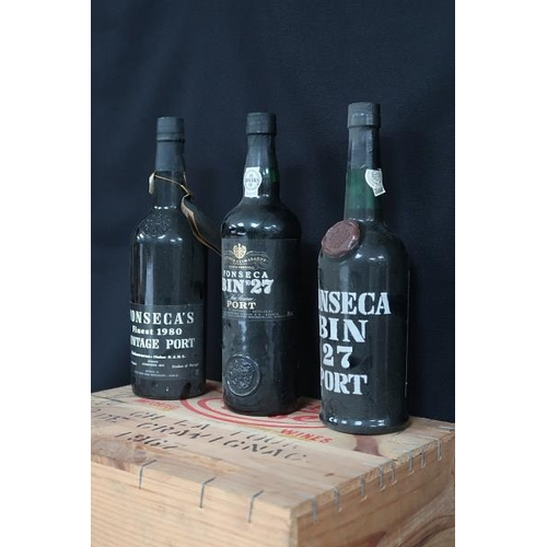 52 - Three bottles of Port including one bottle of Ponseca, 1980; two bottles of Ponseca No 27.