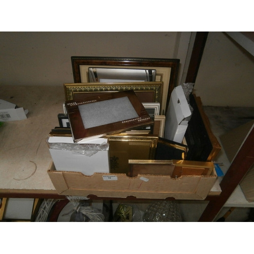 19 - Box of picture frames...