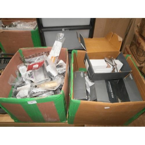 54 - Two boxes inc door handles, window handles, etc...