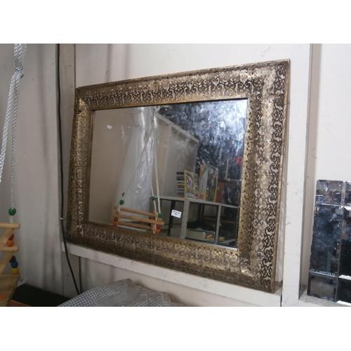 48 - Large ornate mirror...