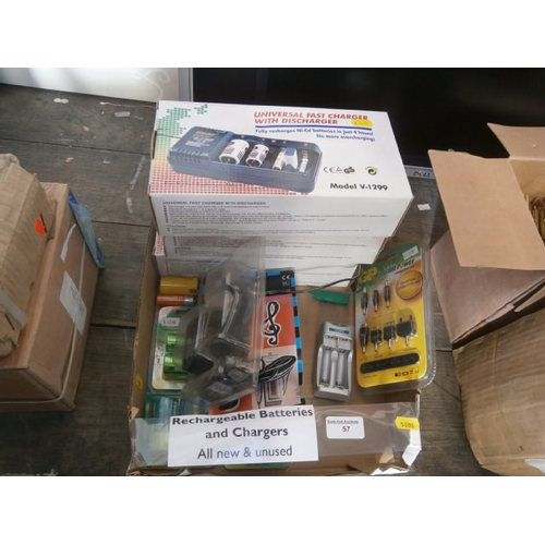57 - Box of Rechargeable batteries and chargers...