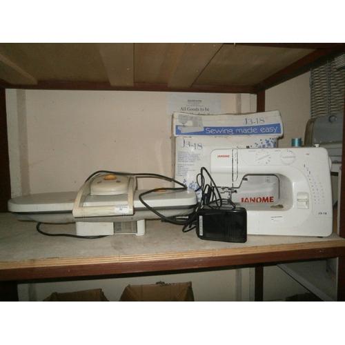20 - Ultra compact press and Janome sewing machine...