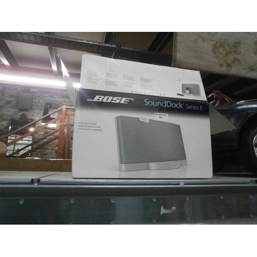 10 - Bose sound dock...