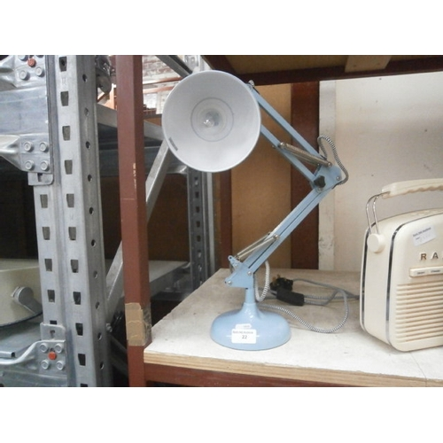 22 - Decorative angled table lamp...