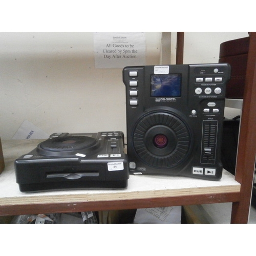 24 - Two Dap audio DS-380TL Front loading table top CD players...