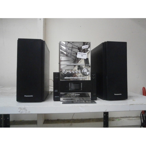 33 - Panasonic CD Stereo system...