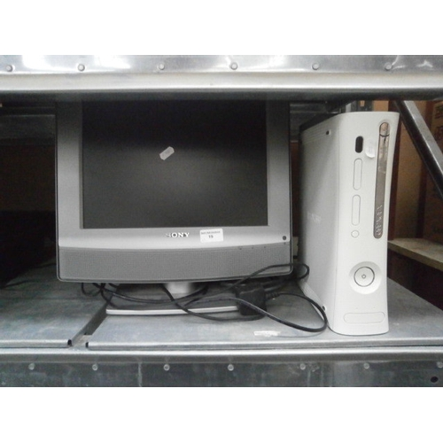 19 - Sony computer monitor and Xbox 360...