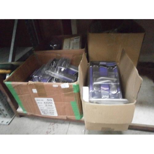 34 - Four boxes of new door handles...