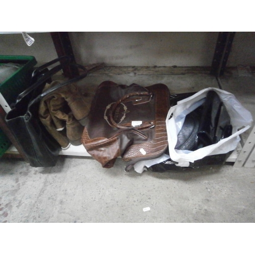 41 - Collection of hand bags and pair of ladies boots...