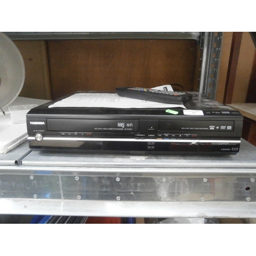 17 - Toshiba HDD & DVD/ Video cassette recorder...