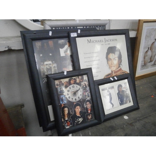 54 - Collection of Micheal Jackson framed prints...