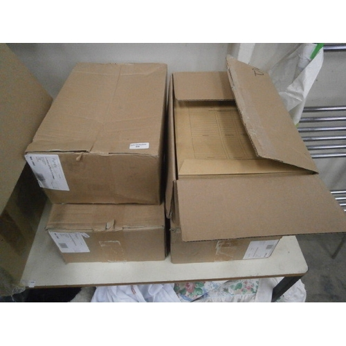 60 - Four boxes of brown inspection envelopes...