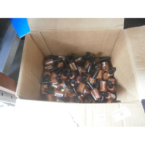 32 - Box of copper nail varnishes, approx 102...