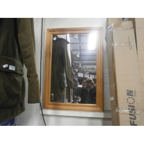 52 - Pine framed mirror...