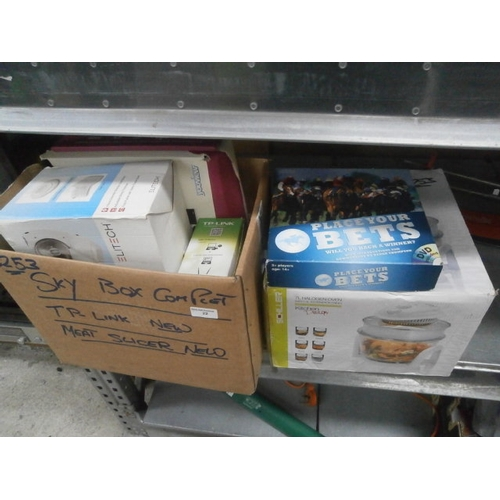 22 - Lot inc Youview box, Meat slicer, Halogen oven, etc...