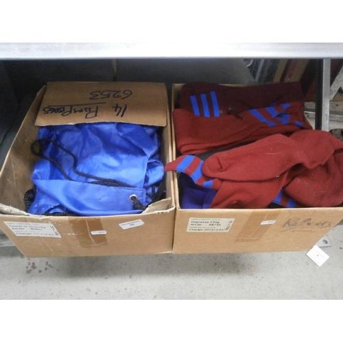 28 - Box of football socket and box of pump bags...