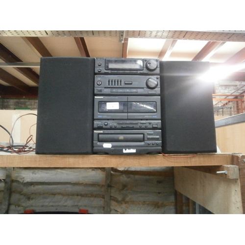 3 - Panasonic mini Hi-Fi system...
