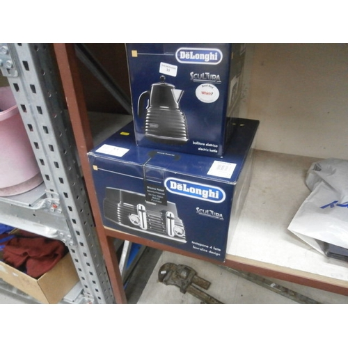 33 - New Delonghi electric kettle and toaster...
