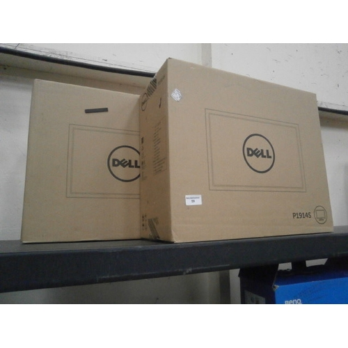 59 - Two new dell computer monitors, boxed...