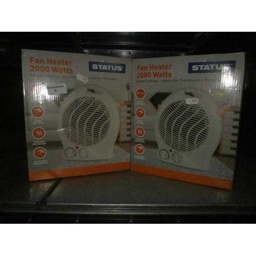 5 - Two 2000w fann heaters boxed...
