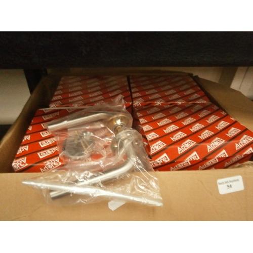54 - Box of new door handles...