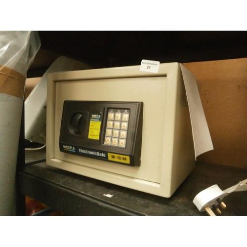 29 - Blackspur electronic safe with key...