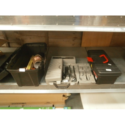 13 - Lot inc tool boxes, tool set, hardware and hand tools...