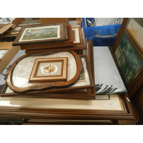 130 - Large collection of framed artwork...