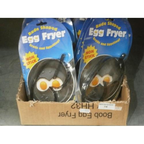 14 - 12 novelty rude shaped egg fryers...