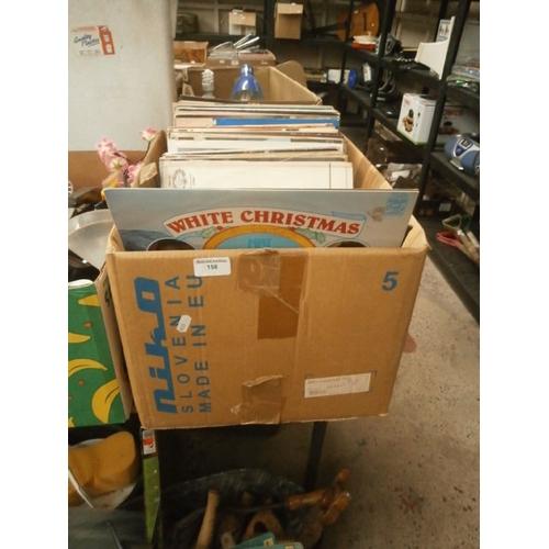 158 - Box of vinyl records...