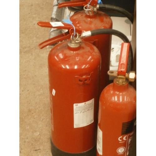 186 - Three fire extinguishers...