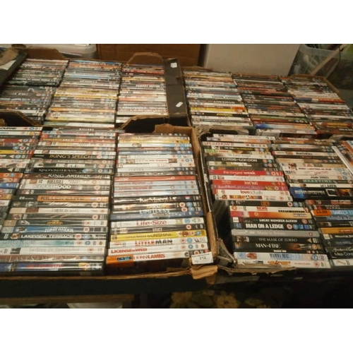 212 - Four boxes of DVDs...