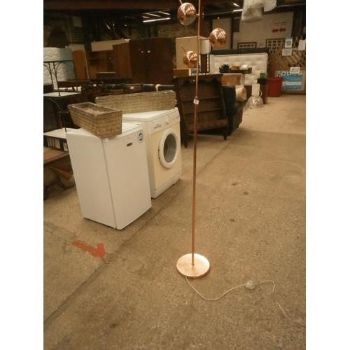 226 - Decorative copper floor standing lamp...