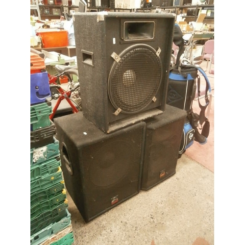 231 - Two Wharfedale pro speakers and one other...