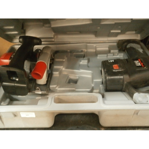 24 - Power devil circular saw and saw, with case...