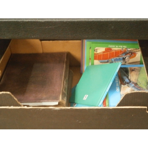 25 - Box inc two vintage Yorkshire past and present books and Thomas the tank engine books...